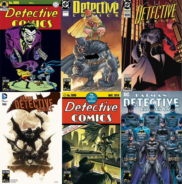 Detective Comics 1000 covers