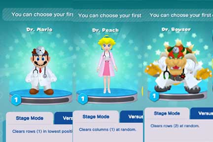 Dr. Mario World - Character Selection